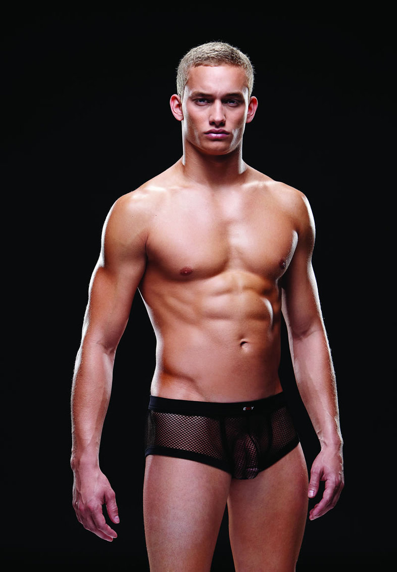 Fishnet Sport Trunk S/m Black