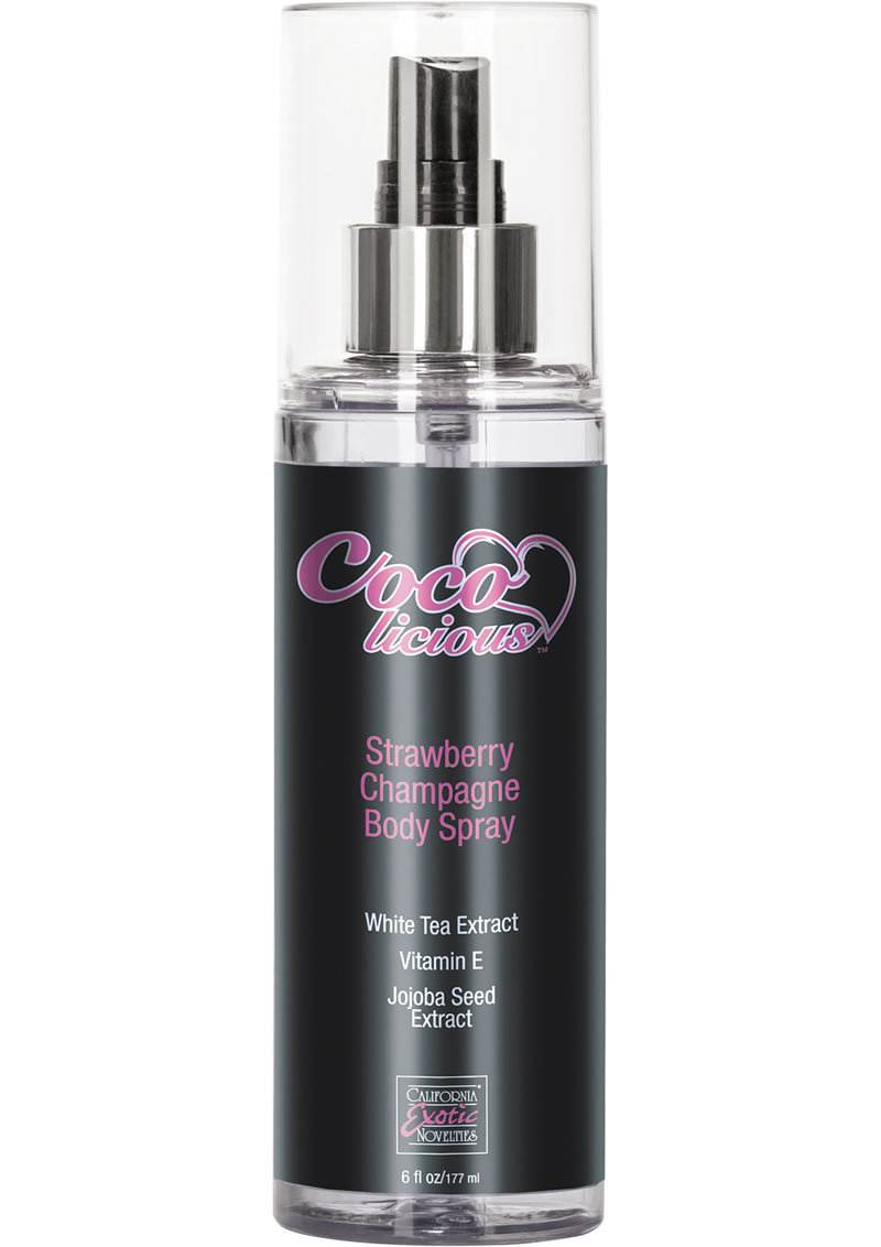 Cocolicious Strawberry Champagne Body Spray 6 Ounce