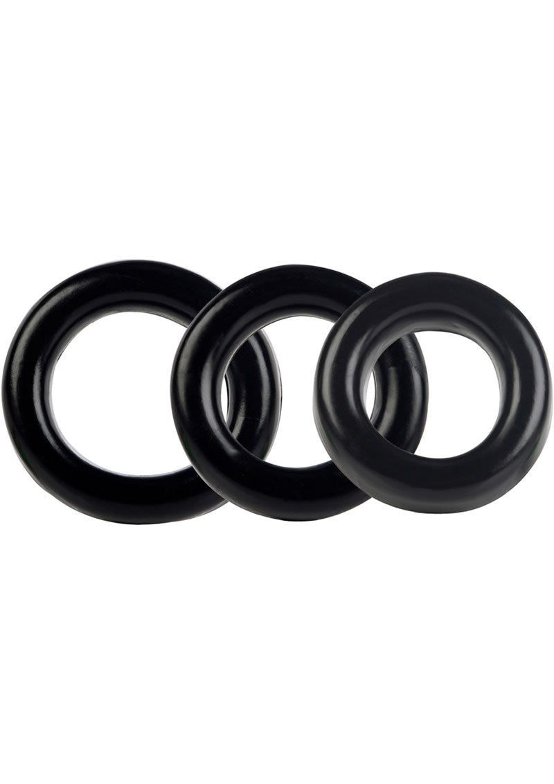 Colt 3 Ring Set Cock Rings - Black